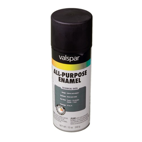 T799-002 General Purpose Spray Paint  Flat Black 6-Pack