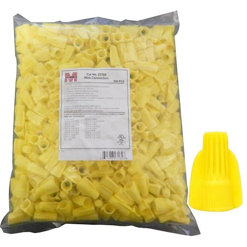 23184 Winged Twist Connectors Yellow Bagged 500-Pack