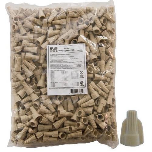 23185 Winged Twist Connectors Tan Bagged 500-Pack