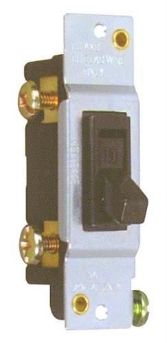 82048 Single Pole Toggle Switch without Mounting Ears 15A-120V
