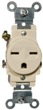 82240 Commerical Grade Single Receptacle Ivory 15A-250V