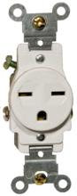 82241 Commerical Grade Single Receptacle White 15A-250V