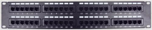 88046 Cat5E High Density Patch Panels 48 Port