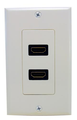 80444 Dual HDMI Home Enterainment WallPlate