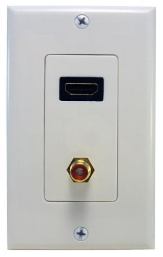 80446 Combination HDMI & RCA Connector Home Enterainment WallPlate