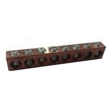 91154 Ground Neutral Bar Copper Only #14 - #4  6 Circuit