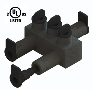 98052 Submersible Insulated Streetlighting Connectors Multi-Port Offset #14 - 2/0  3 Port