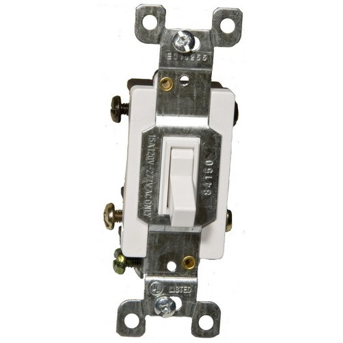 82041 Toggle Switch White 4 Way 15A-120/277V