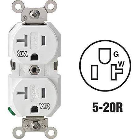 82506 Tamper & Weather Resistant Duplex Receptacles 20A 125V White