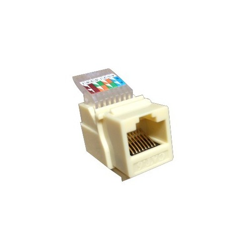 88012 Cat6 (RJ-45) Unshielded Keystone Jacks - Tooless Ivory