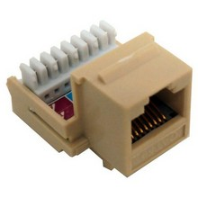 88015 Cat5E (RJ45) Unshielded Keystone Jacks-Rear Entry Ivory