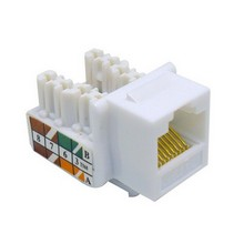 88021 Cat5E (RJ45) Unshielded Keystone Jacks White