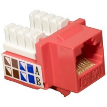 88023 Cat5E (RJ45) Unshielded Keystone Jacks Red
