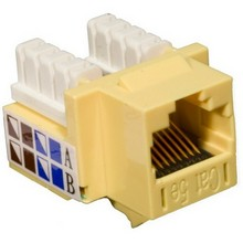 88024 Cat5E (RJ45) Unshielded Keystone Jacks Yellow