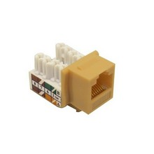 88028 Cat5E (RJ45) Unshielded Keystone Jacks Lt. Almond