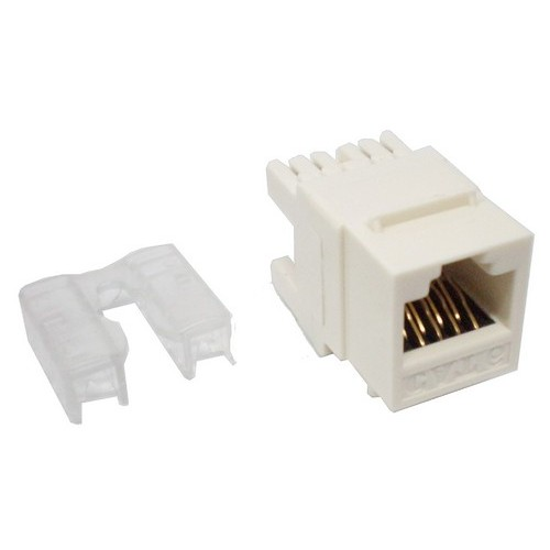 88031 Cat6 (RJ-45) Unshielded Keystone Jacks - Rear Entry White