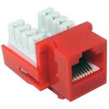 88423 Cat6 (RJ45) Unshielded Keystone Jacks Red