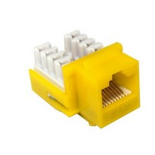 88424 Cat6 (RJ45) Unshielded Keystone Jacks Yellow