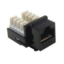 88425 Cat6 (RJ45) Unshielded Keystone Jacks Black