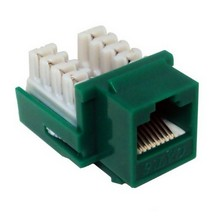 88426 Cat6 (RJ45) Unshielded Keystone Jacks Green