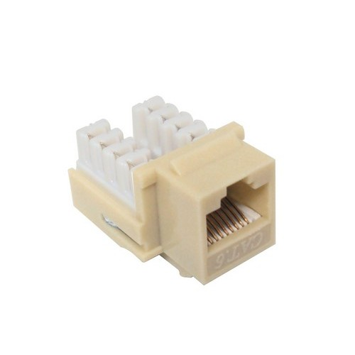 88428 Cat6 (RJ45) Unshielded Keystone Jacks Lt Almond